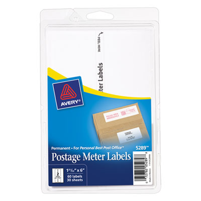 Avery 05289 Postage Meter Labels