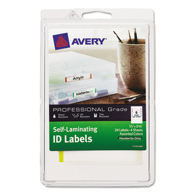 Avery 00748 Self-Laminating ID Labels