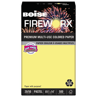 Boise MP2204CY FIREWORX Premium Multi-Use Colored Paper