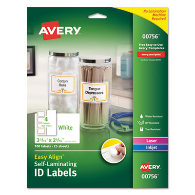 Avery 00756 Self-Laminating ID Labels