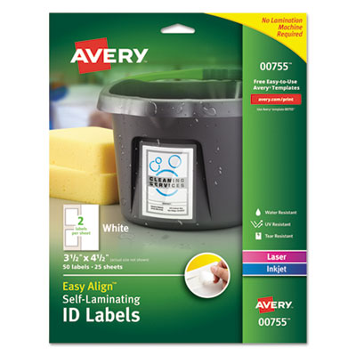 Avery 00755 Self-Laminating ID Labels
