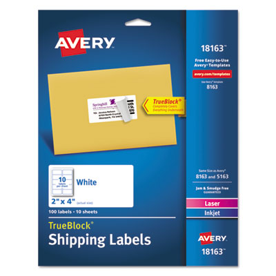 Avery 18163 Shipping Labels