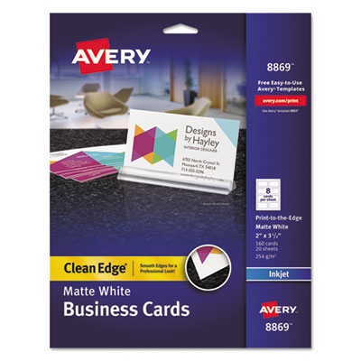 Avery 8869 Premium Clean Edge Business Cards