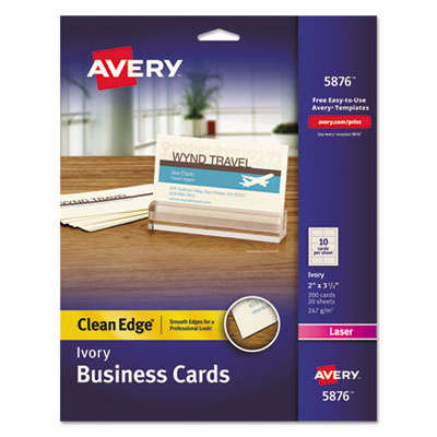 Avery 5876 Premium Clean Edge Business Cards
