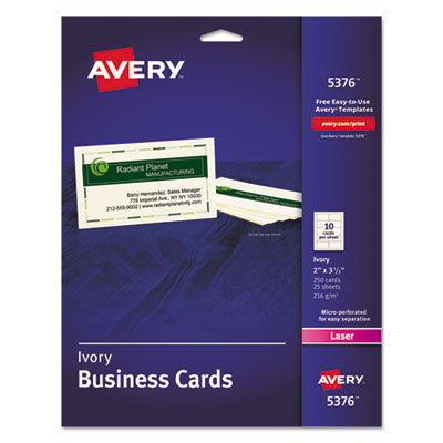 Avery 5376 Standard Printable Microperforated Business Cards