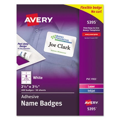 Avery 5395 Name Badges