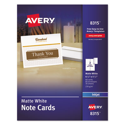 Avery 8315 Note Cards with Matching Envelopes