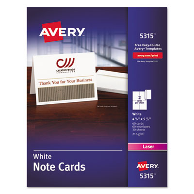 Avery 5315 Note Cards with Matching Envelopes