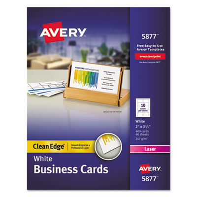 Avery 5877 Premium Clean Edge Business Cards