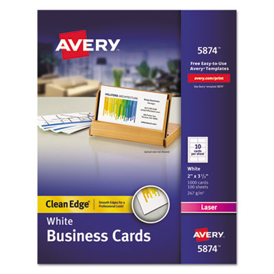 Avery 5874 Premium Clean Edge Business Cards