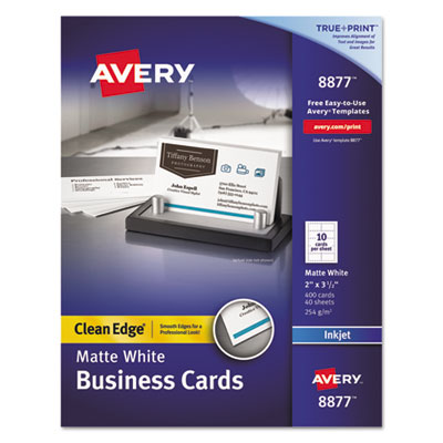 Avery 8877 Premium Clean Edge Business Cards