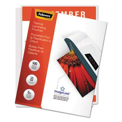 Fellowes 52040 ImageLast Laminating Pouches with UV Protection