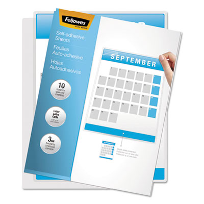 Fellowes 5221502 Self-Adhesive Laminating Sheets