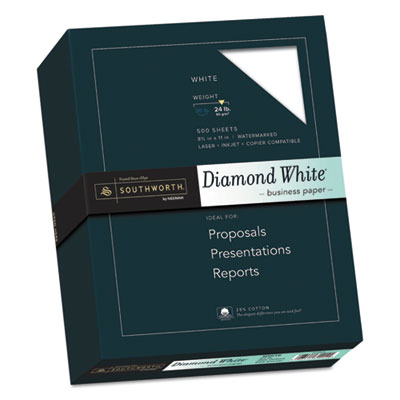 Southworth 3122410 25% Cotton Diamond White Business Paper