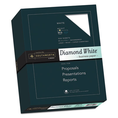 Southworth 3122010 25% Cotton Diamond White Business Paper