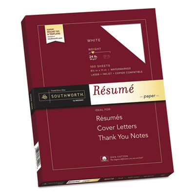 Southworth R14CF 100% Cotton Resume Paper