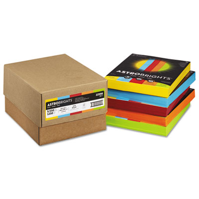 Astrobrights 22998 Color Paper - Five-Color Mixed Carton