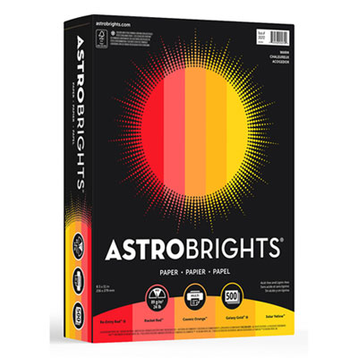 "Astrobrights 20272 Color Paper - ""Warm"" Assortment"