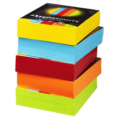 Astrobrights 22999 Color Paper - Five-Color Mixed Carton