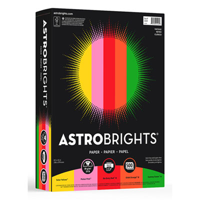 "Astrobrights 21224 Color Paper -""Vintage"" Assortment"