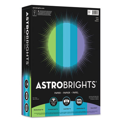 "Astrobrights 20274 Color Paper - ""Cool"" Assortment"