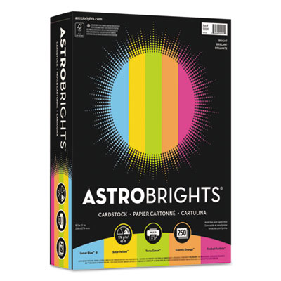 "Astrobrights 99904 Color Cardstock -""Bright"" Assortment"