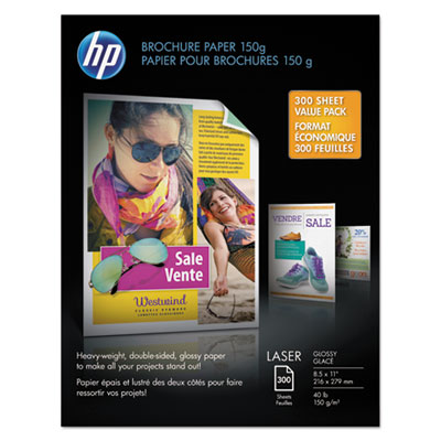 HP X3E84A Heavy-Weight Laser Glossy Brochure Paper