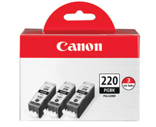 Canon PGI-220 Black Ink Tank 3-Pack (2945B004)