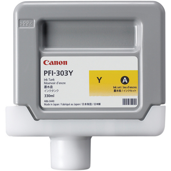 Canon PFI-303Y Yellow Ink Tank