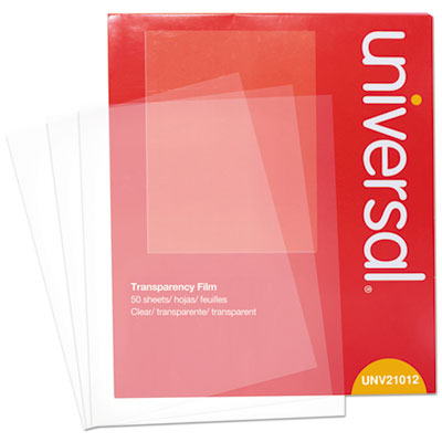 Universal 21012 Transparent Sheets