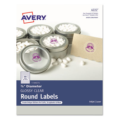 Avery 4222 Round Labels