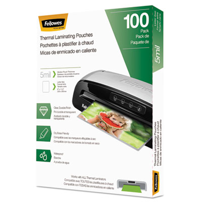 Fellowes 5743501 Laminating Pouches, Letter Size
