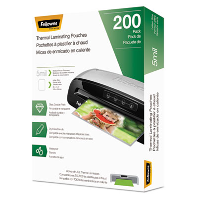 Fellowes 5743601 Laminating Pouches, Letter Size