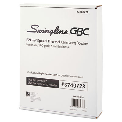 Swingline 3740728 EZUse Thermal Laminating Pouches
