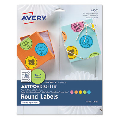 Avery 4330 Color Easy Peel Labels
