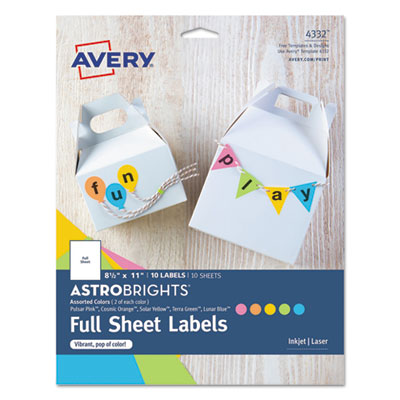 Avery 4332 Color Easy Peel Labels