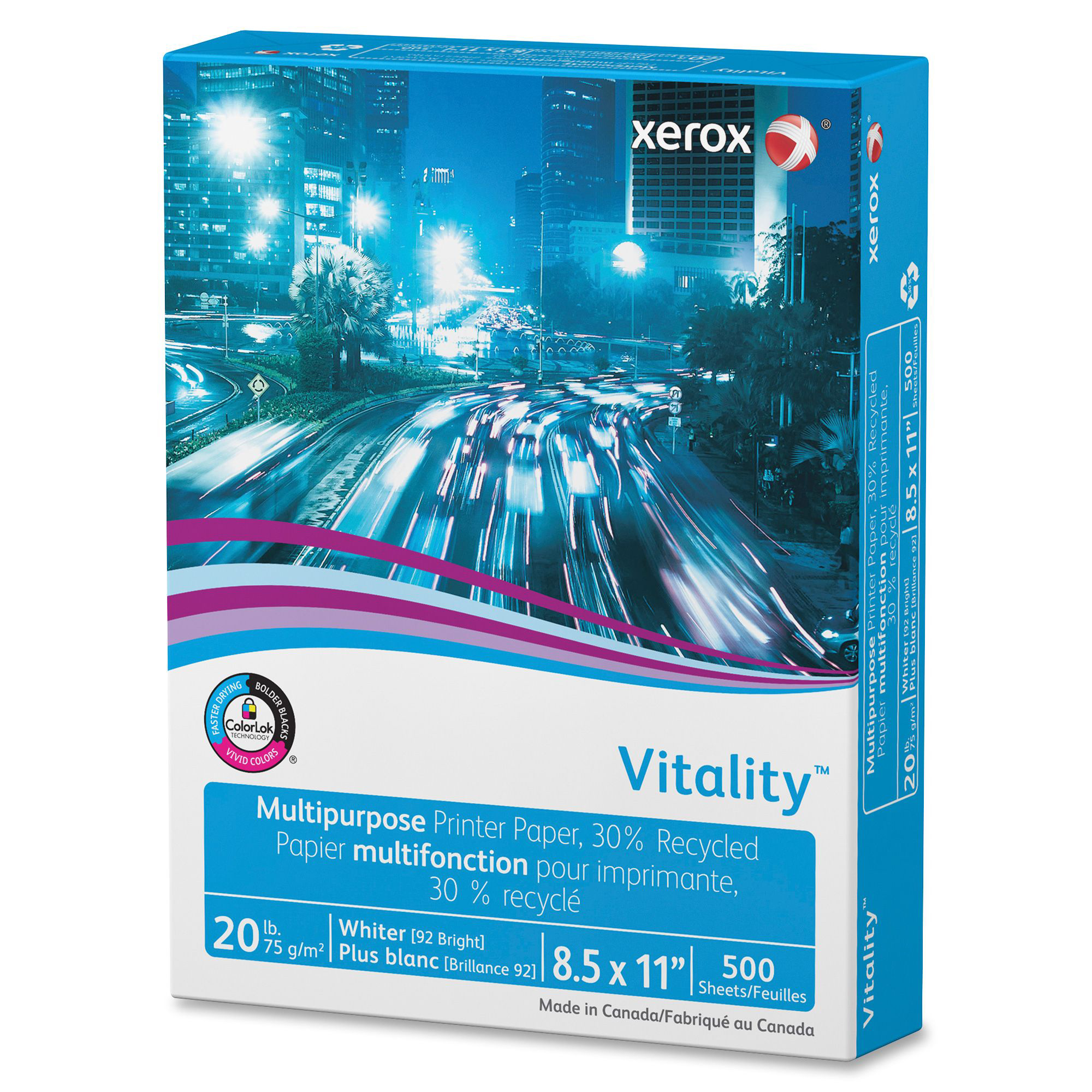 Xerox 3R06296 Vitality 30% Recycled Multipurpose Printer Paper