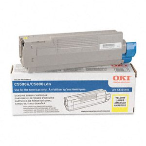 Okidata 43324401 Yellow Toner Cartridge