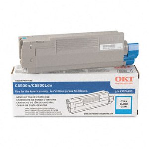 Okidata 43324403 Cyan Toner Cartridge