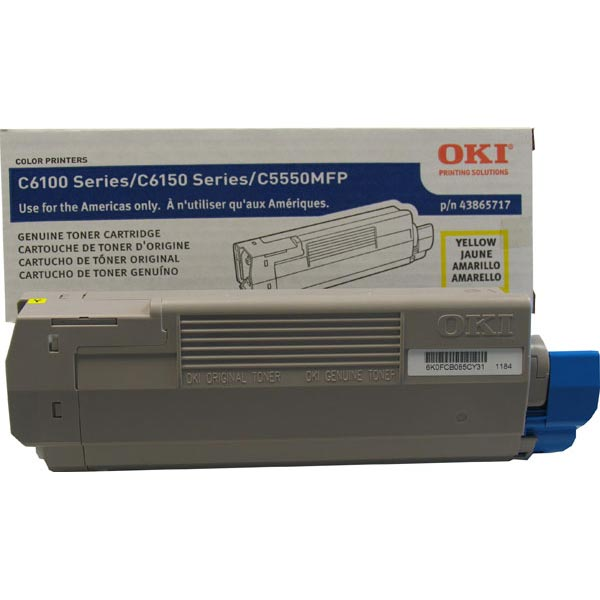 Okidata 43865717 Yellow Toner Cartridge