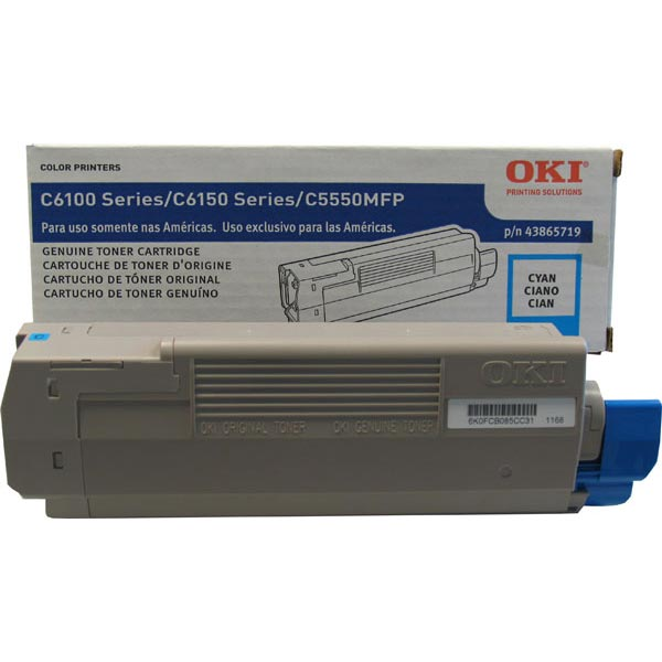 Okidata 43865719 Cyan Toner Cartridge