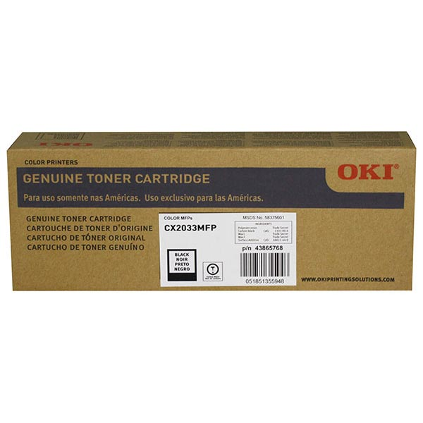 Okidata 43865768 Black Toner Cartridge