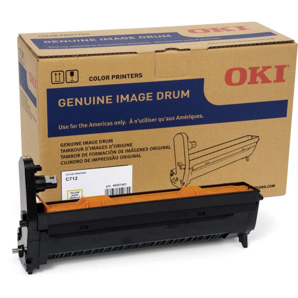 Oki 46507401 Yellow Image Drum