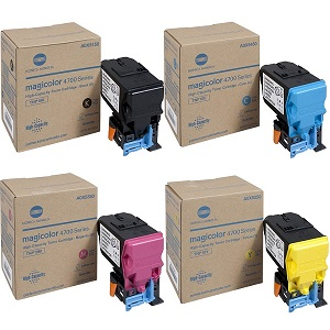 Konica Minolta 4750 Toner Cartridge Set