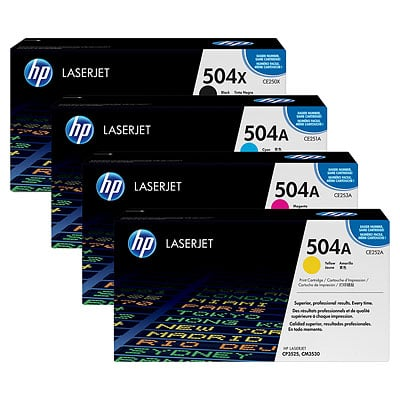HP 504X Toner Cartridge Set