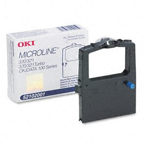Okidata 52102001 Black Ribbon Cartridge
