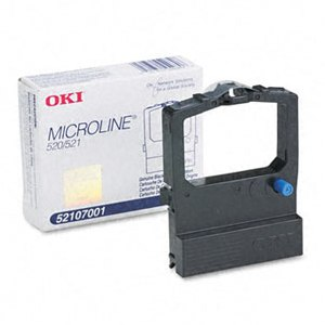 Okidata 52107001 Black Ribbon Cartridge