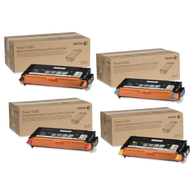 Xerox 6280 Toner Cartridge Set
