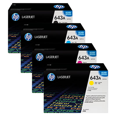 HP 643A Toner Cartridge Bundle