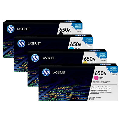 HP 650A Toner Cartridge Bundle